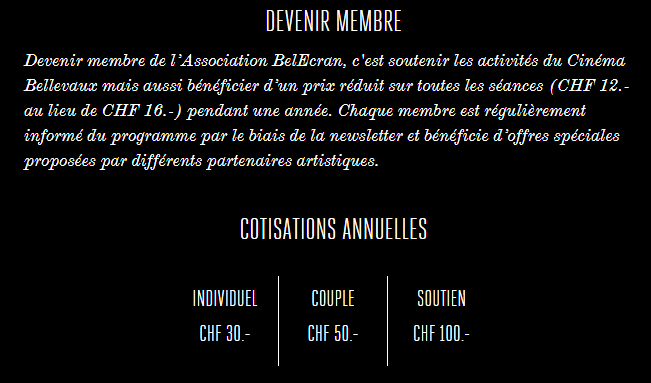Cinéma Bellevaux Lausanne