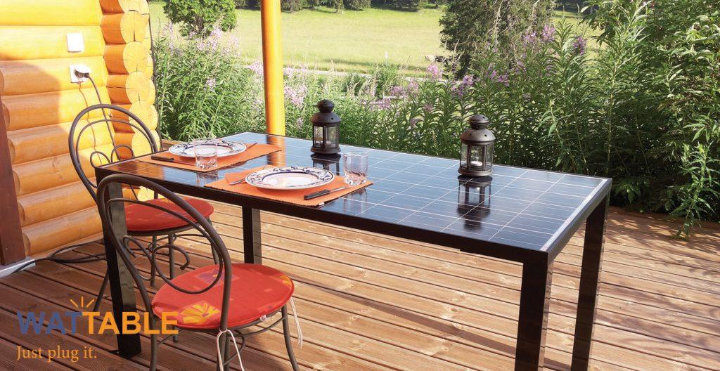 wattable table de jardin énergie solaire