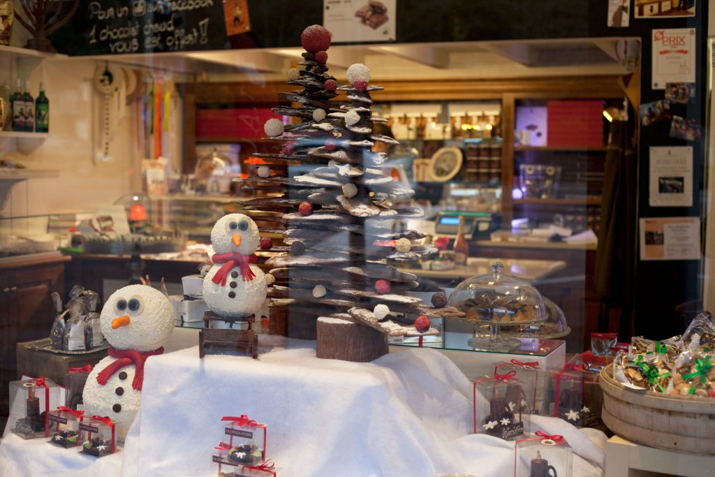 La Chocolatière, vitrine de Noël