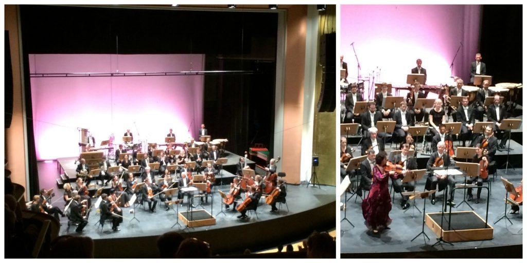 Les musiciens attendent le chef d'orchestre pour commencer le concert. Rappel de la virtuose Tabea Zimmermann, Alto, en fin de concert
