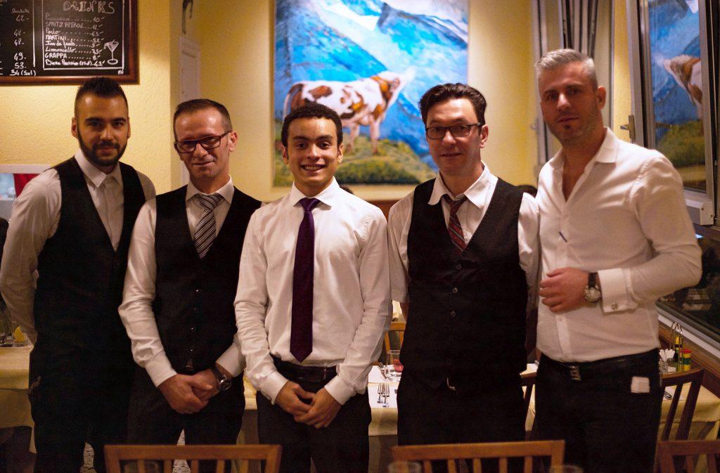 L'équipe du Petit Boeuf, restaurant à Lausanne