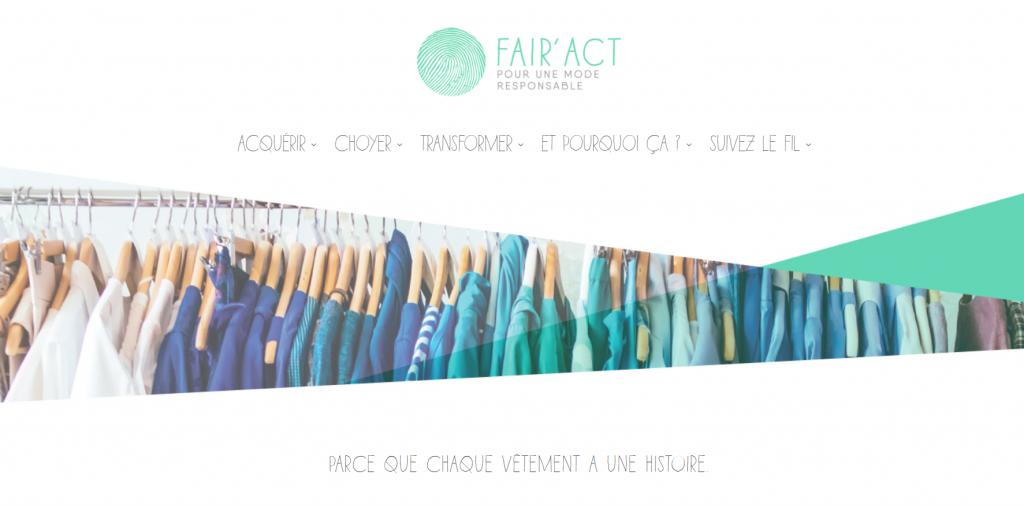 FAIR'ACT le site internet