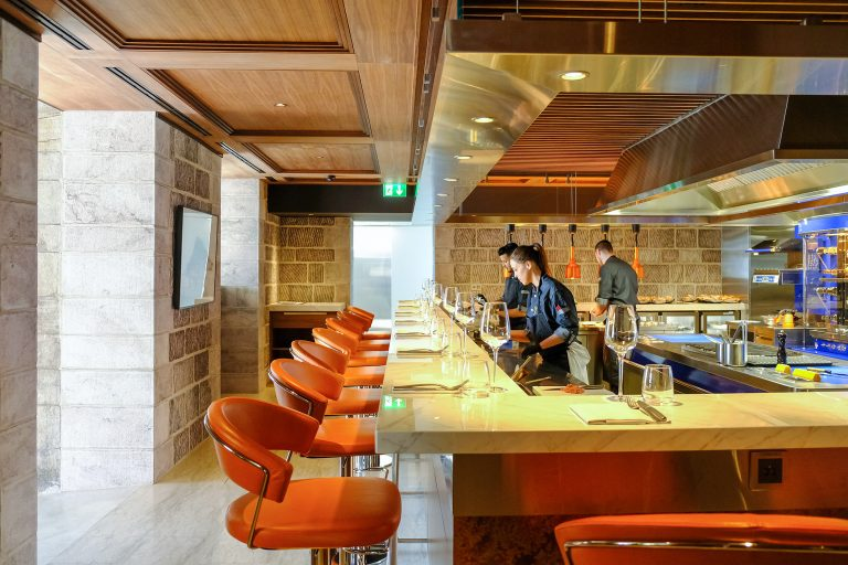 57 degrés grill - chateau-ouchy lausanne - live cooking