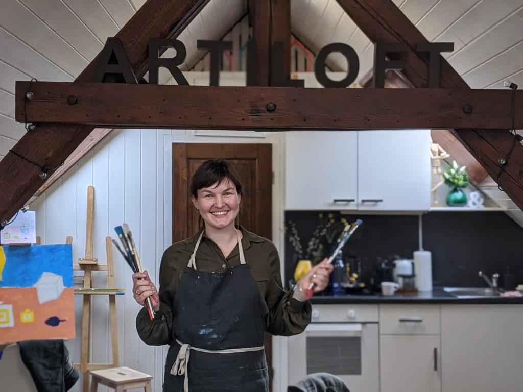 Ksenia artiste et enseignante chez Artiloft