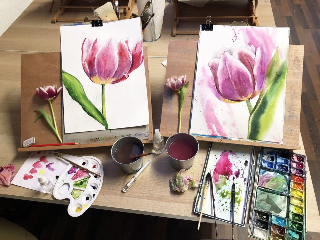 Peintures fleurs Artiloft