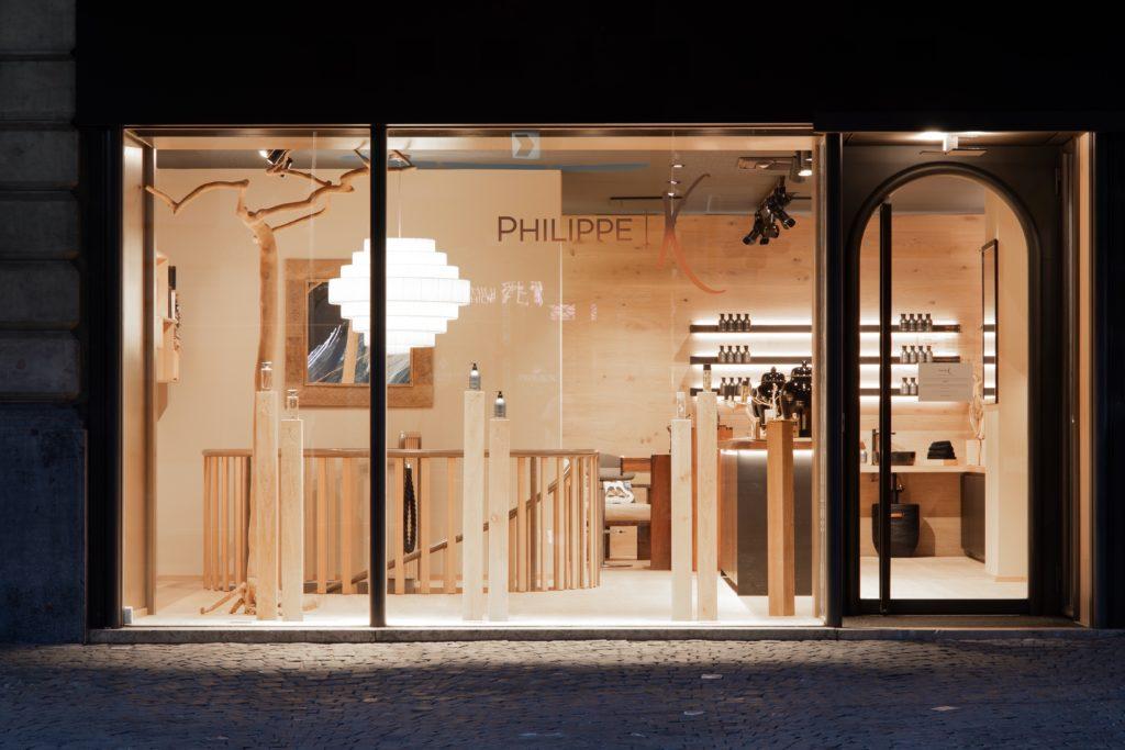 Vitrine de la boutique Philippe K. Lausanne