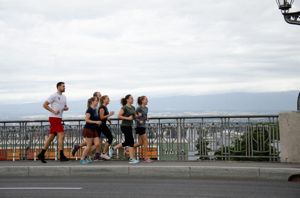 Préparation à la course enmouvement Lausanne