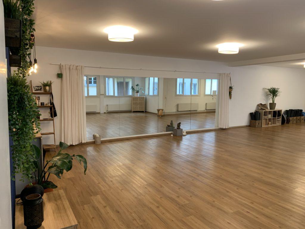 Vue du studio de danse et yoga Paname Academy à Lausanne